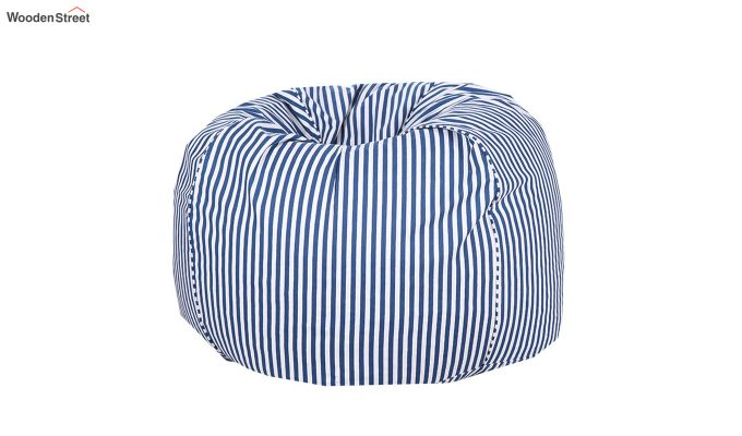 Blue and White Strips Organic Cotton Bean Bag Cover-2