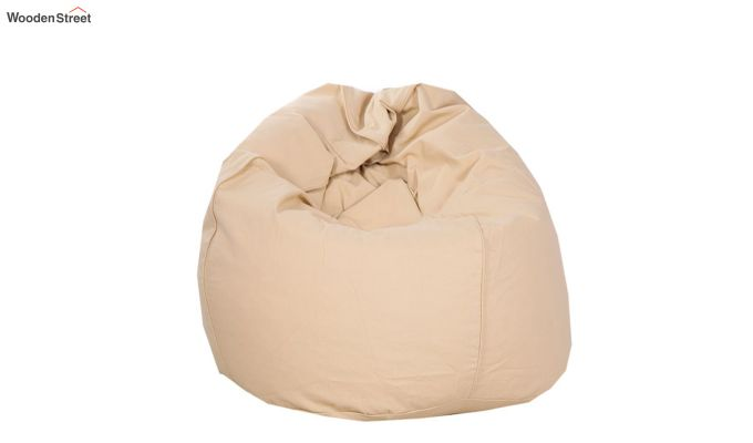 Organic Cotton Bean Bag Cover (Beige)-3