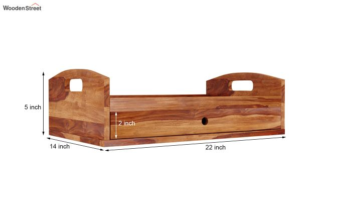 Barge Storage Tray (Teak Finish)-6
