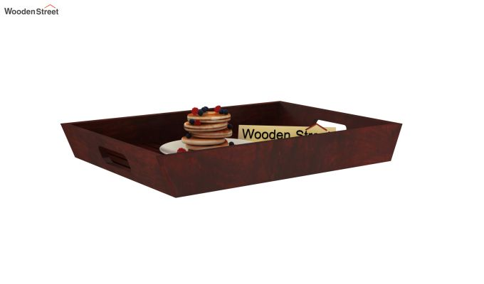 Krato Wooden Tray (Mahogany Finish)-2