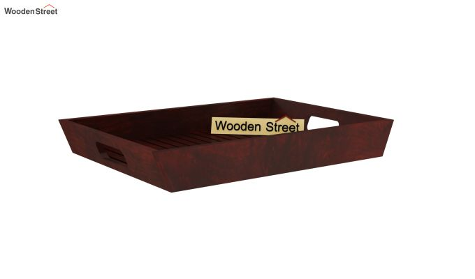 Krato Wooden Tray (Mahogany Finish)-3