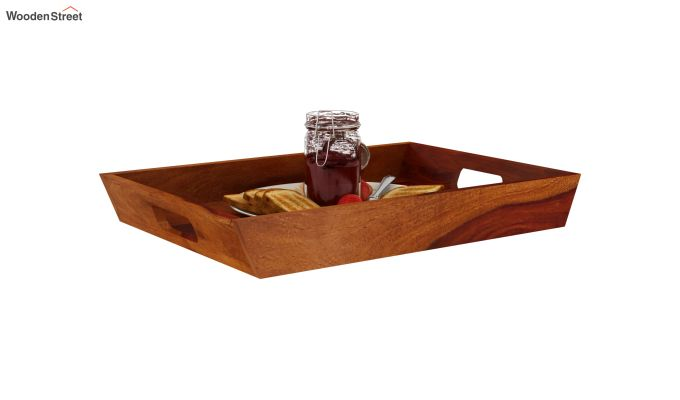 Moto Wooden Tray (Honey Finish)-2