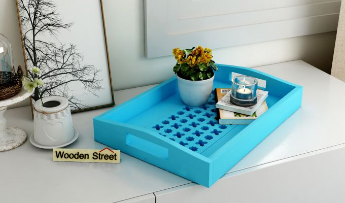Seraf Wooden Tray (Blue)-1