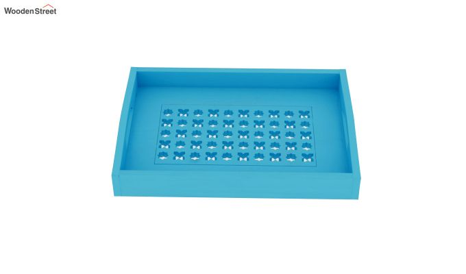 Seraf Wooden Tray (Blue)-3