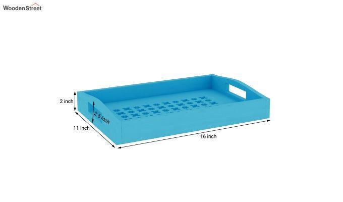 Seraf Wooden Tray (Blue)-4