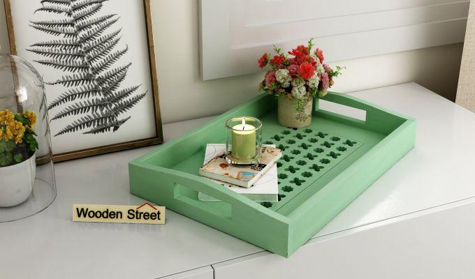 Seraf Wooden Tray (Green)-1