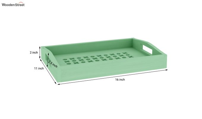 Seraf Wooden Tray (Green)-4