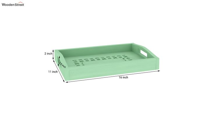 Serafina Wooden Tray (Green)-4