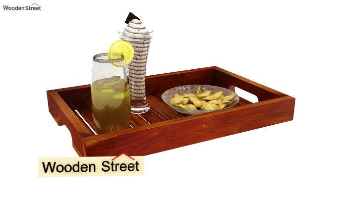 Slato Wooden Tray (Honey Finish)-2
