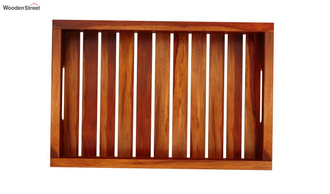 Slato Wooden Tray (Honey Finish)-3