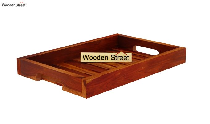Slato Wooden Tray (Honey Finish)-4