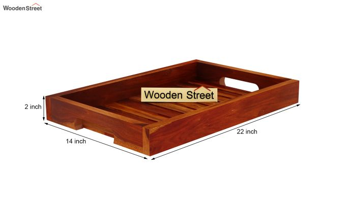 Slato Wooden Tray (Honey Finish)-5