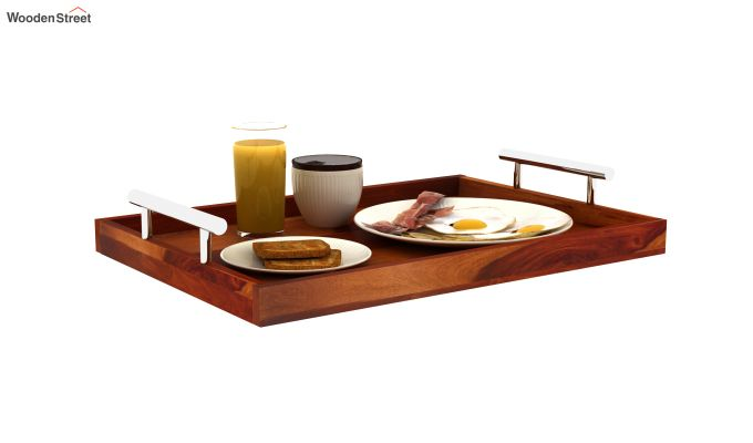 Trojan Wooden Tray (Honey Finish)-2