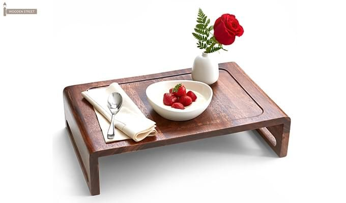 Jared Breakfast Table (Teak Finish)-1