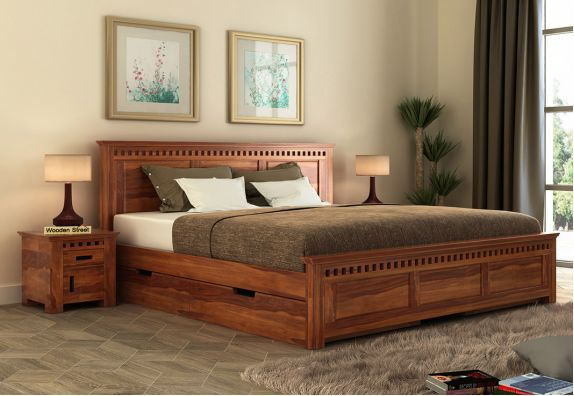 Wooden Queen Size Bed Designs in chennai & mumbai