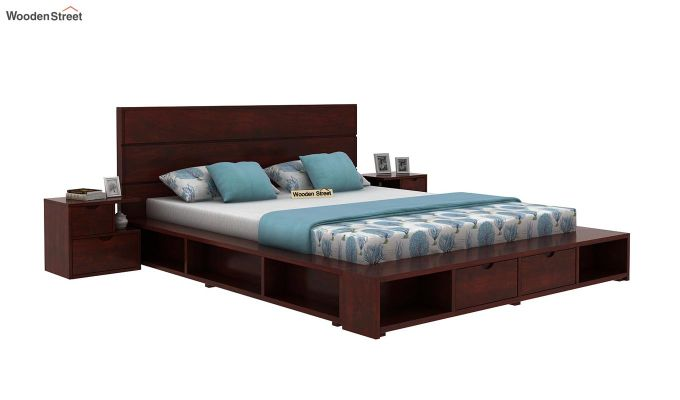 Adrian Bed With Drawer (King Size, Mahogany Finish)-2