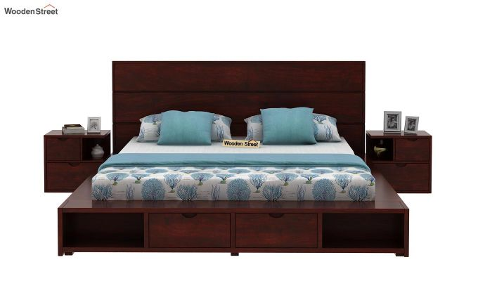 Adrian Bed With Drawer (Queen Size, Mahogany Finish)-3