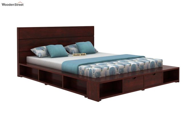 Adrian Bed With Drawer (King Size, Mahogany Finish)-4