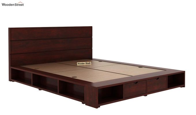 Adrian Bed With Drawer (King Size, Mahogany Finish)-5