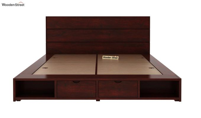 Adrian Bed With Drawer (Queen Size, Mahogany Finish)-6