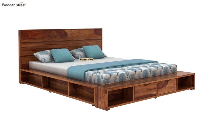 Adrian Bed With Drawer (Queen Size, Teak Finish)-3