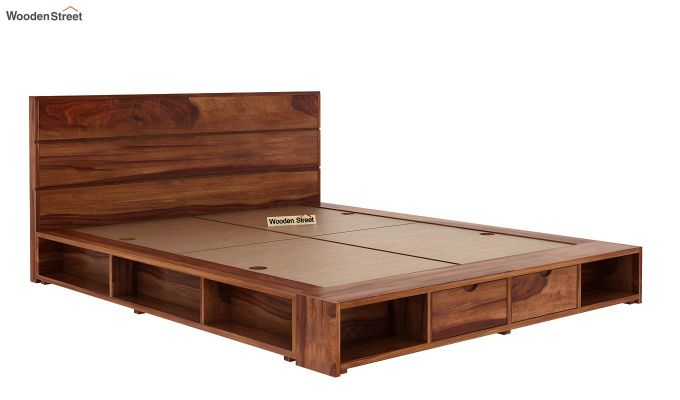 Adrian Bed With Drawer (Queen Size, Teak Finish)-4