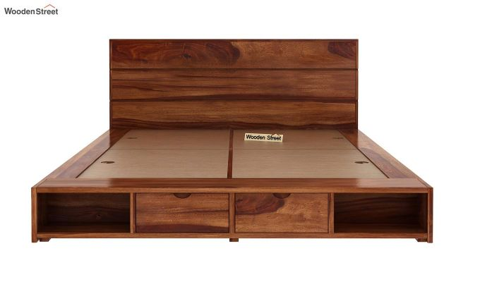 Adrian Bed With Drawer (Queen Size, Teak Finish)-5