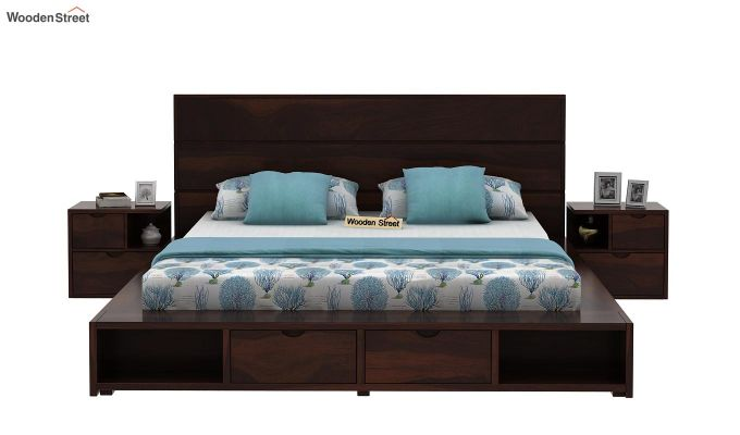 Adrian Bed With Drawer (Queen Size, Walnut Finish)-2