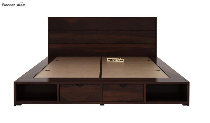 Adrian Bed With Drawer (Queen Size, Walnut Finish)-5