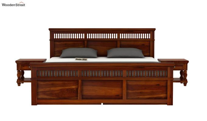 Alanis Bed With Storage (King Size, Honey Finish)-3