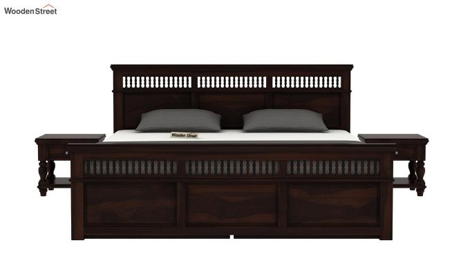 Alanis Bed With Storage (Queen Size, Walnut Finish)-3