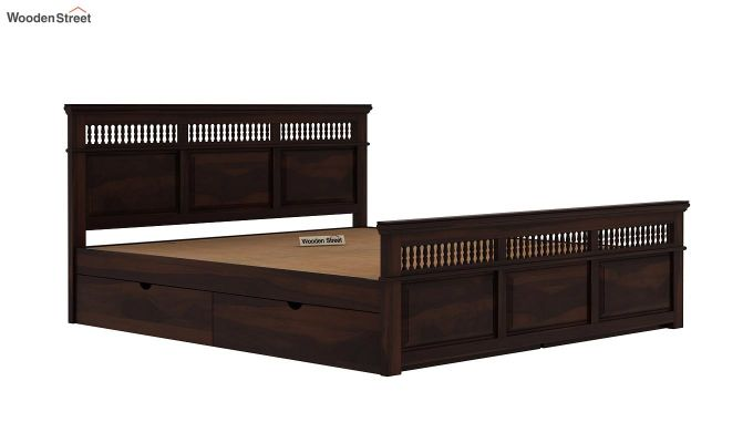 Alanis Bed With Storage (Queen Size, Walnut Finish)-7
