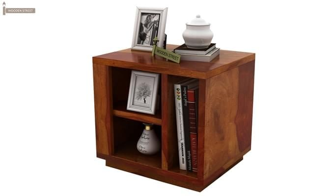 Alanzo Bedside Table (Honey Finish)-2