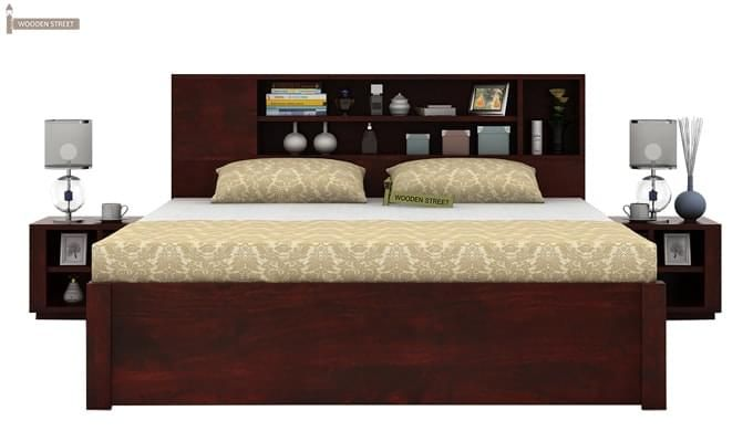 Alanzo Bed With Storage (King Size, Mahogany Finish)-1