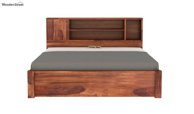 Alanzo Bed With Storage (Queen Size, Honey Finish)-7