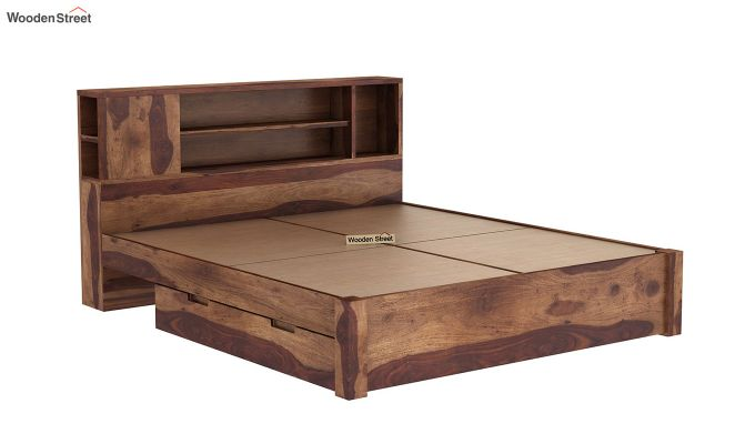 Alanzo Bed With Storage (King Size, Teak Finish)-8