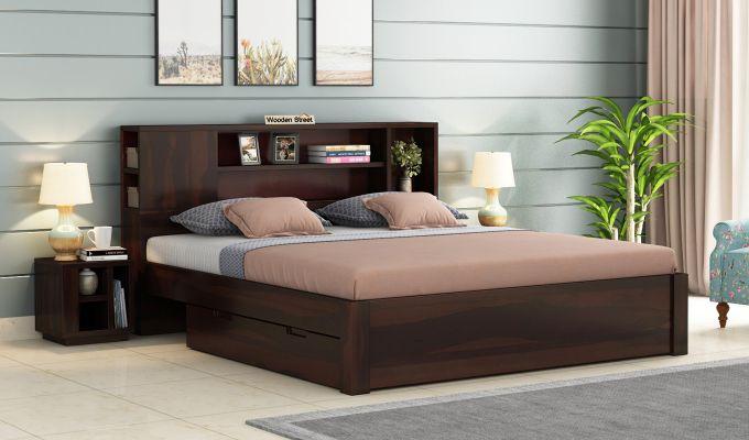 Alanzo Bed With Storage (King Size, Walnut Finish)-1