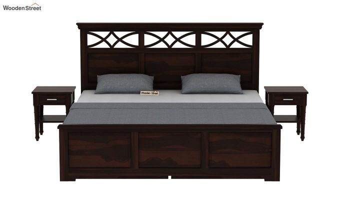 Allan Bed With Storage (Queen Size, Walnut Finish)-3