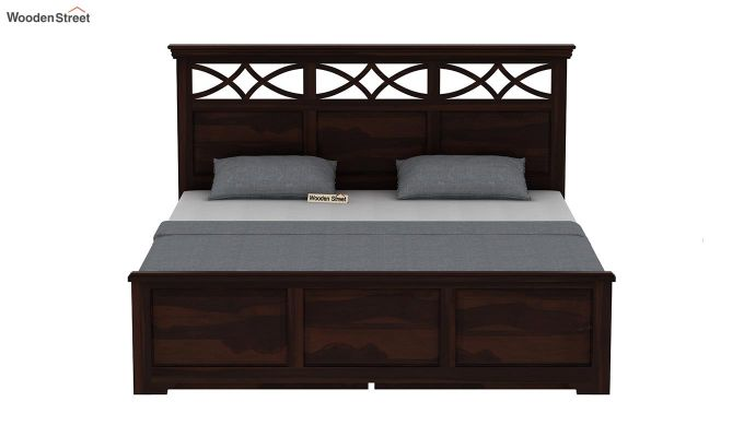 Allan Bed With Storage (Queen Size, Walnut Finish)-5