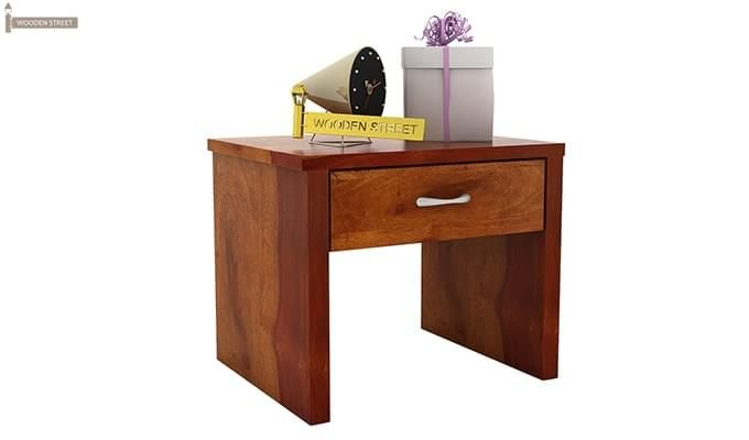 Libron Bedside Table (Honey Finish)-3