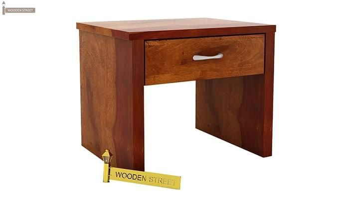 Libron Bedside Table (Honey Finish)-4