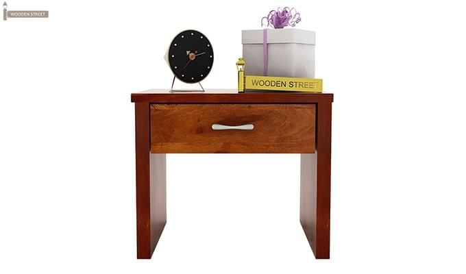 Libron Bedside Table (Honey Finish)-5