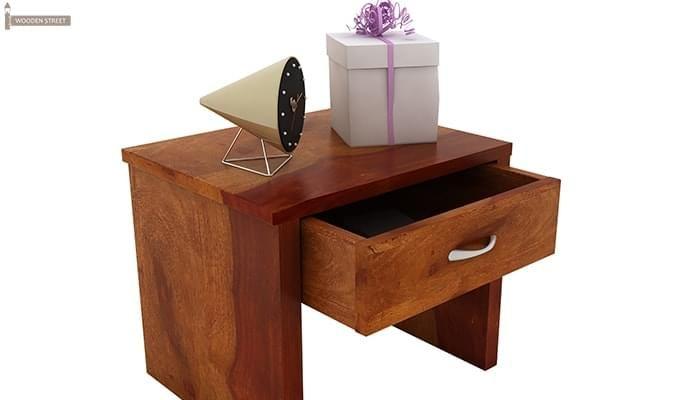 Libron Bedside Table (Honey Finish)-6