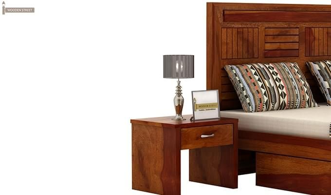 Libron Bedside Table (Honey Finish)-2