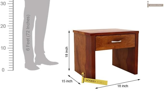 Libron Bedside Table (Honey Finish)-7
