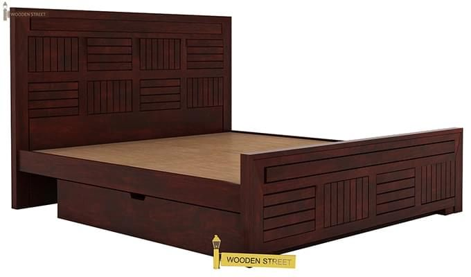 Libron Bed With Storage (King Size, Mahogany Finish)-8