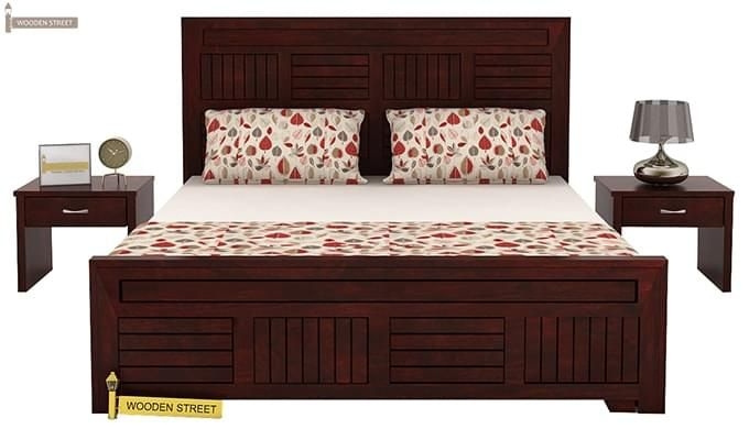 Libron Bed With Storage (King Size, Mahogany Finish)-2