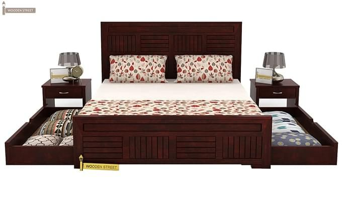 Libron Bed With Storage (King Size, Mahogany Finish)-6