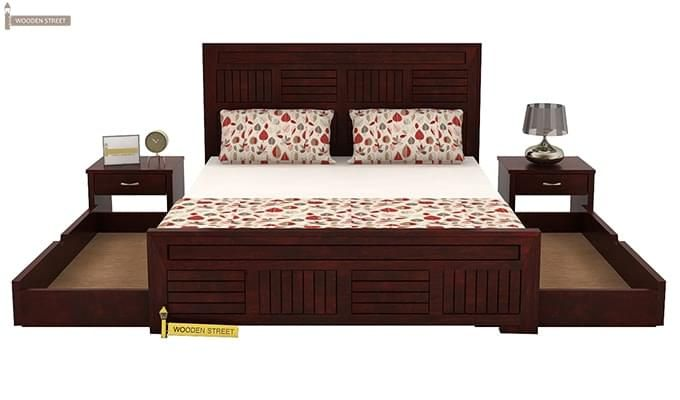 Libron Bed With Storage (King Size, Mahogany Finish)-7
