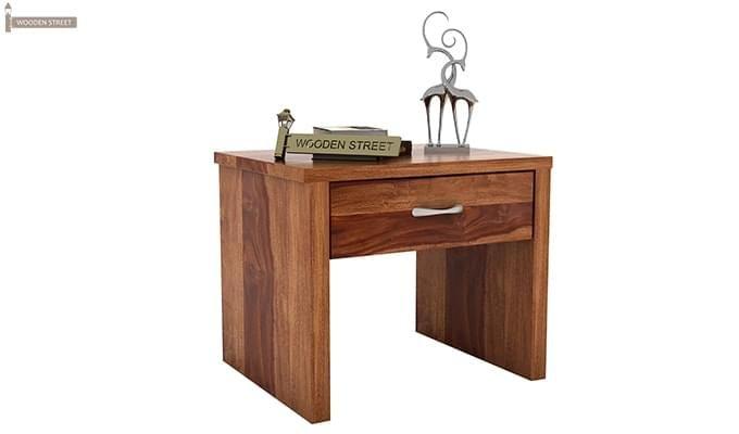 Libron Bedside Table (Teak Finish)-2